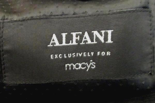 Men's Black Long Sleeve Suit Jacket Dry Clean Only By Alfani Size 44L