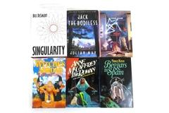 Lot of 6 Sci-Fi/Fantasy Hardcover Books by Terry Pratchett Anne McCaffrey & More