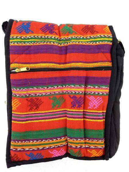 Guatemalan Hand Woven Mochila Crossbody Bag M Red Bright #A CONCERNED CRAFTS NOS