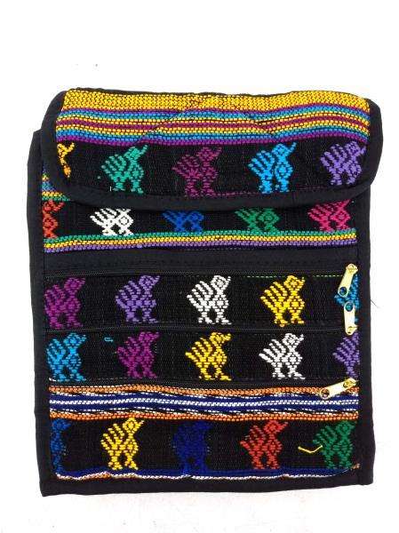NEW Black Boho Festival Guatemalan Hand Woven Mochila Crossbody Bag MEDIUM