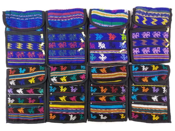 8pc Lot: Tribal Guatemalan Boho Festival Mochila Crossbody Bags SMALL #A