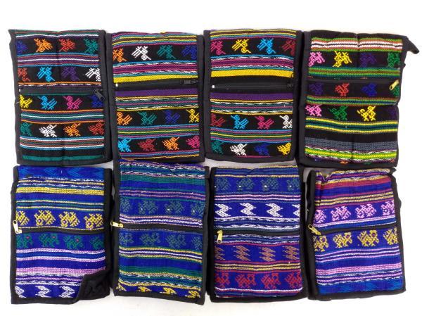 8pc LOT: Assorted 90s Guatemalan Hand Woven Boho Mochila SMALL Crossbody Bags