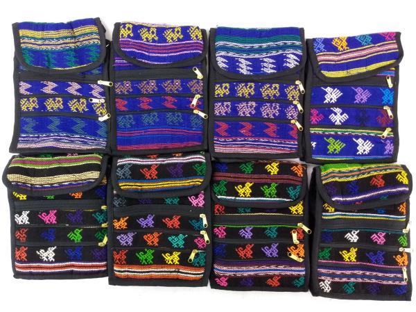 8pc Lot: Assorted Boho Festival Guatemalan Mochila Crossbody Bags Small #D