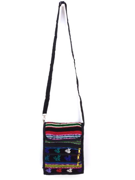 Lot of 8: NEW Black Multicolor 90s Guatemalan Boho Mochila SMALL Crossbody Bags