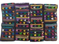8pc LOT: Black Boho Festival Guatemalan Tribal Mochila Crossbody Bags Small #G