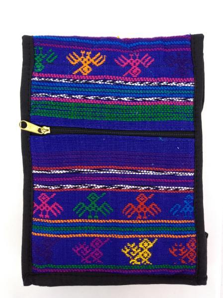 NEW Blue 90s Guatemalan Hand Woven Boho Mochila SMALL Crossbody Bag