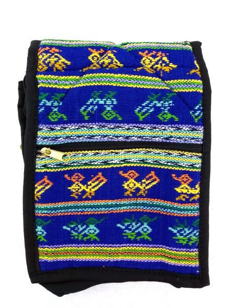 NEW Bright Blue 90's Guatemalan Hand Woven Boho Mochila SMALL Crossbody Bag