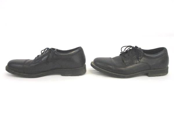 Rockport Men's Oxfords Black Leather Adiprene Waterproof Slip Resistant Size 9