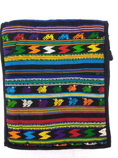 Guatemalan Hand Woven Mochila Crossbody Bag Large CONCERNED CRAFTS NOS Black #E