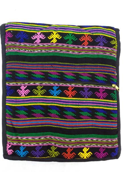 Guatemalan Hand Woven Mochila Crossbody Bag Large CONCERNED CRAFTS NOS Black #H