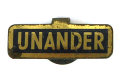 Vintage Unander Political Pin Metal Fold Tab Made By Green Duck Chicago 313 634