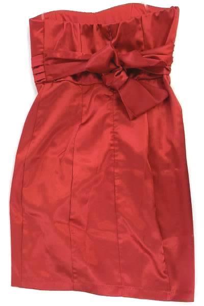 My Michelle Red Halter Dress Tie Back Juniors Size 5