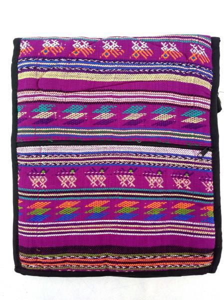 NEW Purple 90s Guatemalan Hand Woven Boho Festival Mochila Large Crossbody Bag