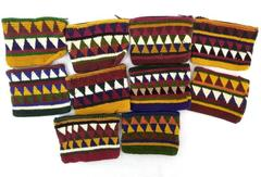 Wholesale Lot of 10  Hand Crochet LARGE Coin Purses Assorted Boho Guatemalan NEW