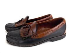 "ALLEN EDMONDS ""Nashua"" Men's 10.5D Black and Brown Leather Tassel Loafers"