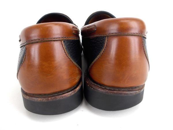 "ALLEN EDMONDS ""Nashua"" Men's 10.5D Black and Brown Leather Tassel Loafers"