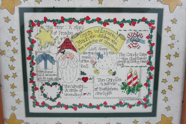 1992 Darcy Christensen Teach The Children The Meaning Of Christmas Framed Poster