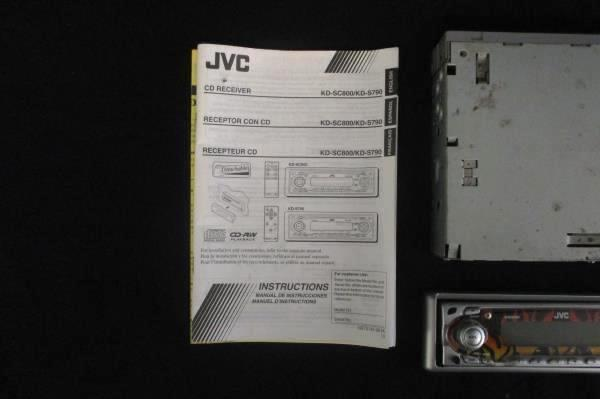 JVC CD Reciever KD-Sc800 with Instructions and Flame Cover Wire Remote