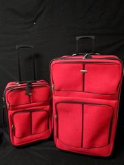 Luggage Set Of 4 Pieces Edge Hill Red Black Polyester For Hardcore Travelers