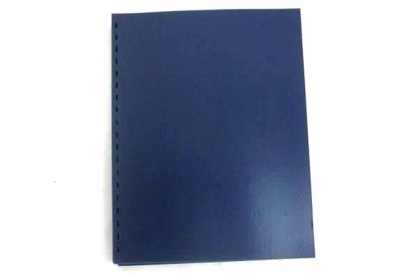 """Swingline GBC Pre-Punched Presentation Covers 11"""" x 8.5"""" Blue Clear 50/Pack"""