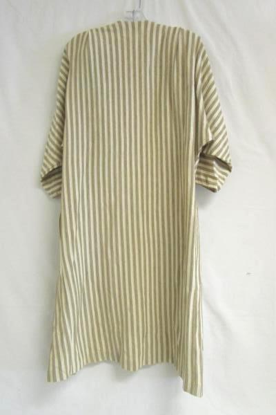 Vintage Sybil California Dress Cardigan Set Cowl Tan Ivory Striped Women's Sz 6
