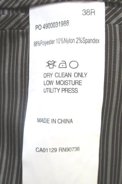 Men's Green Long Sleeve Dress Jacket By Calvin Klein Size 38R
