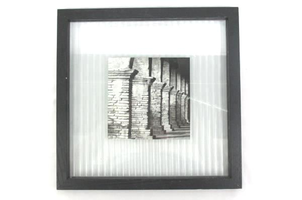 """6"""" x 6"""" Framed Black And White Photo Of Ancient Brick Columns"""