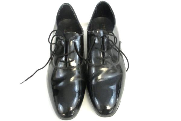 Frederico Leone Formal Tuxedo Glossy Black Dress Shoes Men's Size 130M