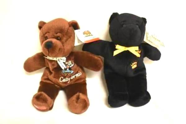 """Lot of 3 State Teddy Bears 8"""" Plush Tennessee and California by Symbolz"""