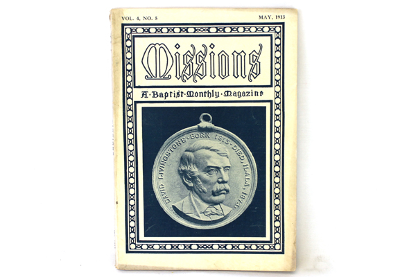 Missions Baptist Monthly Magazine Antique Softcover Book May 1913 Vol. 4 No. 5