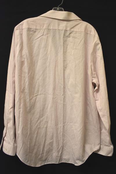 Button-Up Dress Shirt Calvin Klein Pink Speckled 100% Cotton Men's Size 17