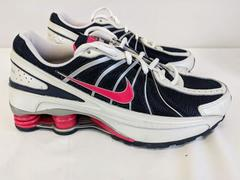 NIKE Shox Turbo VII Athletic Running Shoes Navy Pink - Size 6Y / W 7.5