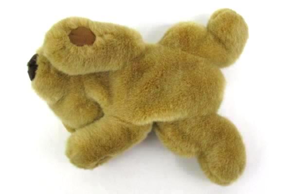 """7.5"""" Bestever Sleepy Light Brown Bear Plush Rattle"""