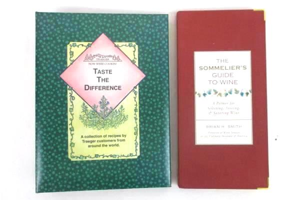 Lot of 2 Cookbooks Guide to Wine Trager Taste the Difference Hardcover