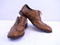 Cole Haan Men's Williams Leather Wingtip Oxford Shoes British Tan Size 10.5M