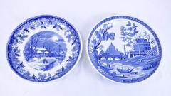 """Lot of 2 - SPODE BLUE 10"""" Pasta Bowls  Winter's Eve, Rome -Blue Room Collection"""
