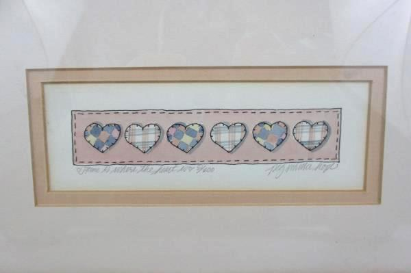 """Signed & Numbered Print """"Home Is Where The Heart Is"""" By Peg Wheeler Hope 51/200"""