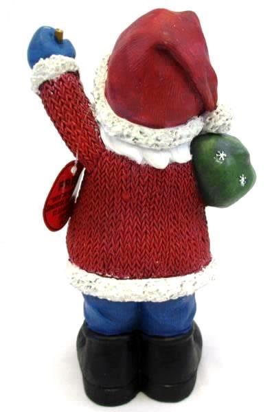"12"" Ceramic American Greetings Santa Holding Sack of Toys & Bell 422798"
