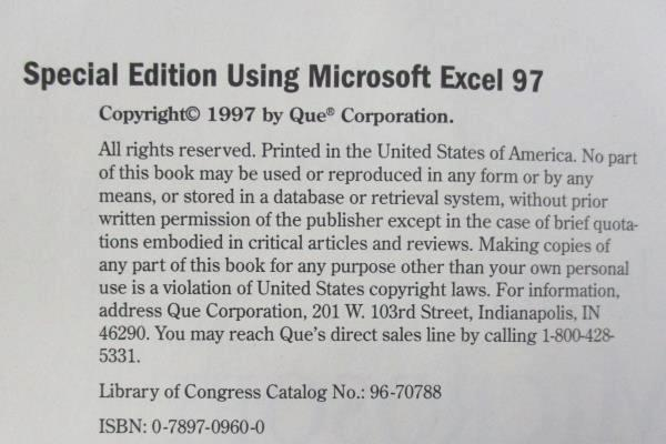 Special Edition Using Microsoft Excel 97 by Ron Person