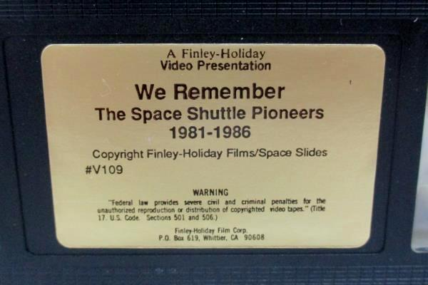 We Remember The Space Shuttle Pioneers 1981-1986 VHS