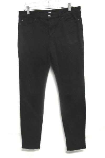 Women's Black Skinny Fit Jean Pants By Else Size W30