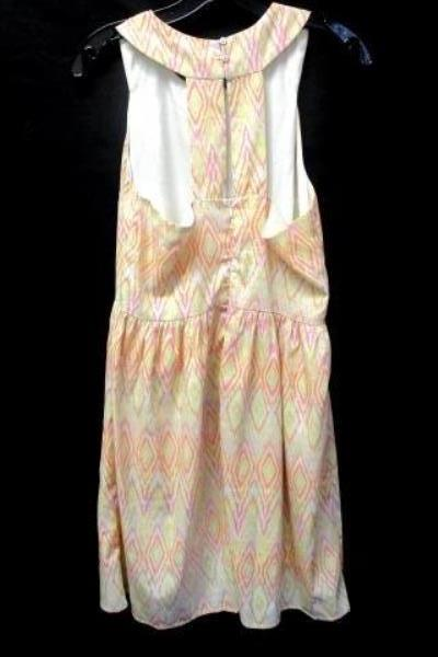 Patterned Sleeveless Dress By Under Skies Multi-Colored Women's Size M