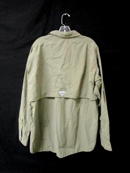 Windbreaker Columbia PFG Army/Olive Green 100% Nylon Men's Size L