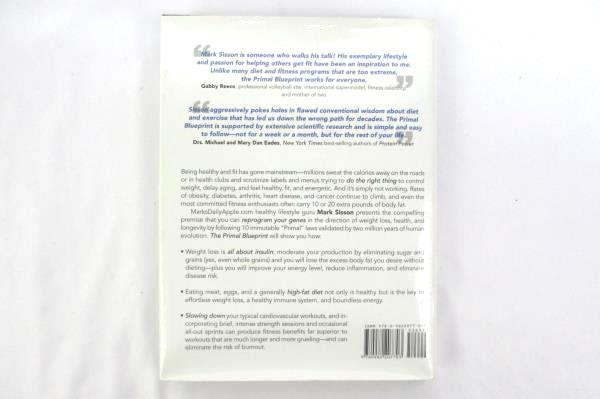 The Primal Blueprint Hardcover 2009 Dust Jacket Mark Sisson Primal Nutrition