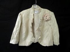 Jacket By J. Taylor Ruffled & Metallic Cream With Lace Detailing Women's Size 16