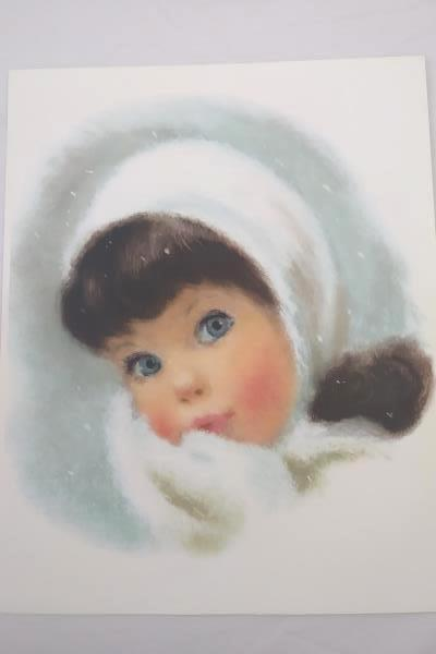 """Set of 4 Vintage Northern """"American Beauty"""" Little Girl Portraits 1960s"""