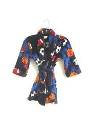 Fuzzy Robe Cherokee Sleepwear Multicolored Sports Ball Pattern Youth Size XS
