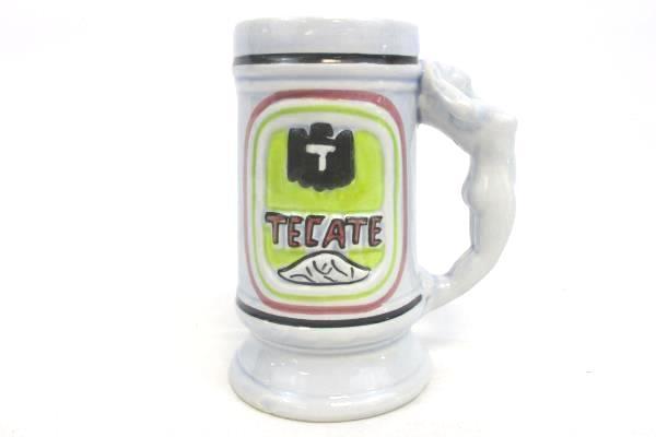TECATE Beer Stein Handmade Hand Painted Women Handle