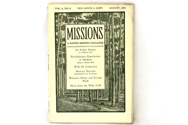 Missions Baptist Monthly Magazine Antique Book August 1913 Vol. 4 No. 8