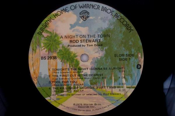 1976 Rod Stewart A Night On The Town WB Records Vinyl LP BS2938